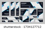 set of creative web banners of... | Shutterstock .eps vector #1734127712