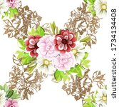 abstract elegance seamless...   Shutterstock . vector #1734134408