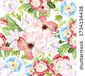 abstract elegance seamless...   Shutterstock . vector #1734134438