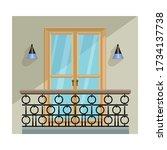 balcony vector icon.cartoon...   Shutterstock .eps vector #1734137738