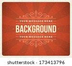 vintage background design... | Shutterstock .eps vector #173413796