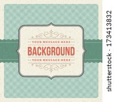 vintage background design... | Shutterstock .eps vector #173413832