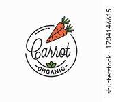 carrot vegetable logo. round... | Shutterstock .eps vector #1734146615