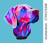 great dane dog in the style of... | Shutterstock .eps vector #1734175208