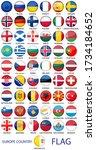 set of round emblem symbol all...   Shutterstock .eps vector #1734184652