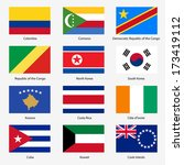 set  flags of world sovereign... | Shutterstock . vector #173419112