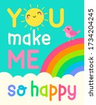 """""""you make me so happy"""" colorful ... 