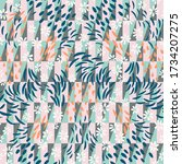 vector  seamless abstract... | Shutterstock .eps vector #1734207275