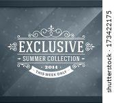 window advertising exclusive... | Shutterstock .eps vector #173422175