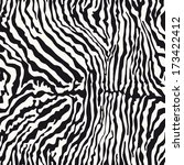 zebra fur   vector seamless... | Shutterstock .eps vector #173422412