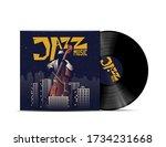 jazz music vinyl disc cover... | Shutterstock .eps vector #1734231668
