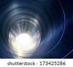 pipe metal texture inside   Shutterstock . vector #173425286