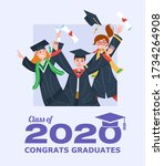 graduating class of 2020 banner ... | Shutterstock .eps vector #1734264908