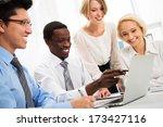 international group of business ... | Shutterstock . vector #173427116
