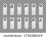 tag hanger on door. paper... | Shutterstock .eps vector #1734280415