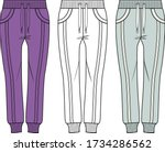 sweatpants fashion flat...   Shutterstock .eps vector #1734286562