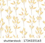 seamless pattern with ear of... | Shutterstock .eps vector #1734335165