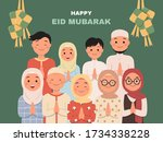illustration of big family say...   Shutterstock .eps vector #1734338228