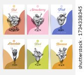 template element for ice cream... | Shutterstock .eps vector #1734338345