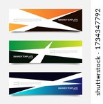 set of abstract banners... | Shutterstock .eps vector #1734347792