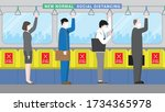 public transportation city... | Shutterstock .eps vector #1734365978