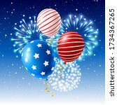 independence day greeting card...   Shutterstock .eps vector #1734367265