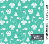 seamless pattern for jewish... | Shutterstock .eps vector #173438105