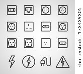energy and resource icon set.... | Shutterstock .eps vector #173439305