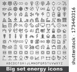 energy and resource icon set.... | Shutterstock .eps vector #173440316