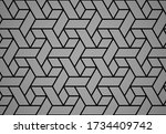 the geometric pattern with... | Shutterstock .eps vector #1734409742
