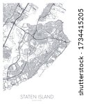 detailed borough map of staten... | Shutterstock .eps vector #1734415205