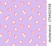 purple heart shaped valentine s ... | Shutterstock .eps vector #1734421928