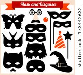 mask and disguises | Shutterstock .eps vector #173442632