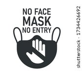 no face mask no entry. the... | Shutterstock .eps vector #1734426692