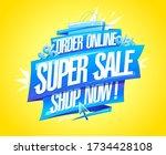 order online  super sale  shop... | Shutterstock .eps vector #1734428108