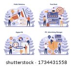public relations concept set.... | Shutterstock .eps vector #1734431558
