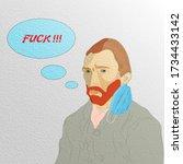 coronavirus humor concept  ... | Shutterstock .eps vector #1734433142