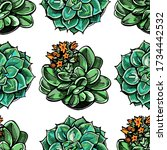 seamless pattern with colored... | Shutterstock .eps vector #1734442532