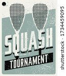 squash tournament typographical ... | Shutterstock .eps vector #1734459095