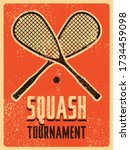 squash tournament typographical ... | Shutterstock .eps vector #1734459098