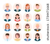 business avatars. user...   Shutterstock .eps vector #1734471668