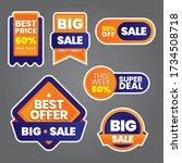 vector illustration set sale... | Shutterstock .eps vector #1734508718
