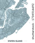 detailed borough map of staten... | Shutterstock .eps vector #1734516692