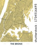 detailed borough map of the... | Shutterstock .eps vector #1734516695