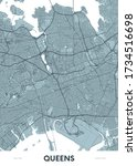 detailed borough map of queens... | Shutterstock .eps vector #1734516698