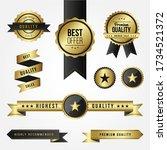 set of sale golden labels | Shutterstock .eps vector #1734521372