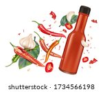 Red Chili Bottle Mock Up With...