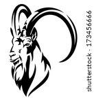 mountain goat  alpine ibex... | Shutterstock .eps vector #173456666