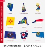 us state maps with flag... | Shutterstock .eps vector #1734577178