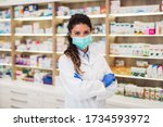 Female pharmacist with...